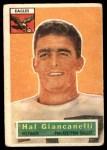 1956 Topps #16  Harold Hal Giancanelli  Front Thumbnail