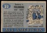 1955 Topps #32  Hank Foldberg  Back Thumbnail