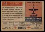 1952 Topps Wings #14   PB4Y-2 Privateer Back Thumbnail