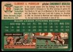 1954 Topps #69  Clarence 'Bud' Podbielan  Back Thumbnail
