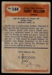 1955 Bowman #144  Jerry Helluin  Back Thumbnail