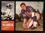 1962 Topps #85  Danny Villanueva  Front Thumbnail