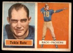 1957 Topps #81  Tobin Rote  Front Thumbnail