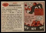 1957 Topps #71  Andy Robustelli  Back Thumbnail