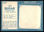 1961 Topps #119  Leo Sugar  Back Thumbnail