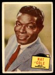 1957 Topps Hit Stars #34  Nat King Cole   Front Thumbnail