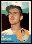 1963 Topps #485  Jim Landis  Front Thumbnail