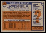 1976 Topps #107  Clarence Scott  Back Thumbnail