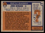 1976 Topps #127  John DeMarie  Back Thumbnail