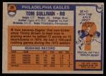 1976 Topps #39  Tom Sullivan  Back Thumbnail