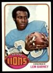 1976 Topps #43  Lem Barney  Front Thumbnail