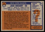 1976 Topps #57  Jack Gregory  Back Thumbnail
