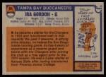 1976 Topps #64  Ira Gordon   Back Thumbnail