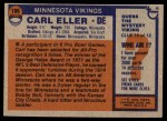1976 Topps #105  Carl Eller  Back Thumbnail