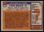 1976 Topps #110  Tom Mack  Back Thumbnail