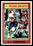 1976 Topps #6   -  O.J.Simpson  Record Breaker Front Thumbnail