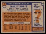 1976 Topps #20  Charley Young  Back Thumbnail