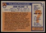 1976 Topps #85  John Niland  Back Thumbnail