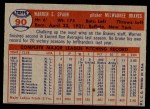 1957 Topps #90  Warren Spahn  Back Thumbnail