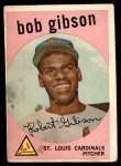 1959 Topps #514  Bob Gibson  Front Thumbnail