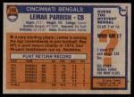 1976 Topps #135  Lemar Parrish  Back Thumbnail