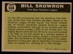 1961 Topps #568   -  Bill Skowron All-Star Back Thumbnail