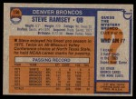 1976 Topps #156  Steve Ramsey  Back Thumbnail