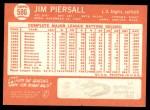 1964 Topps #586  Jimmy Piersall  Back Thumbnail