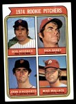 1974 Topps #608 COR  -  Bob Apodaca / Dick Baney / John D'Acquisto / Mike Wallace Rookie Pitchers   Front Thumbnail
