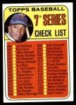 1969 Topps #582 ORG  -  Tony Oliva Checklist 7 Front Thumbnail