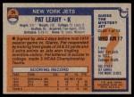 1976 Topps #34  Pat Leahy   Back Thumbnail