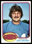 1976 Topps #57  Jack Gregory  Front Thumbnail