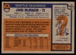 1976 Topps #66  John McMakin  Back Thumbnail