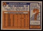 1976 Topps #84  Wally Hilgenberg  Back Thumbnail