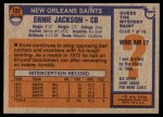 1976 Topps #122  Ernie Jackson  Back Thumbnail