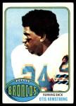 1976 Topps #123  Otis Armstrong  Front Thumbnail