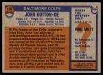 1976 Topps #130  John Dutton  Back Thumbnail