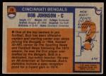 1976 Topps #28  Bob Johnson  Back Thumbnail