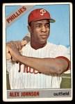 1966 Topps #104 TR Alex Johnson  Front Thumbnail