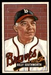1951 Bowman #207  Billy Southworth  Front Thumbnail