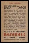 1951 Bowman #312  Gene Mauch  Back Thumbnail