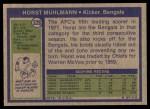 1972 Topps #328  Horst Muhlmann  Back Thumbnail