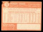 1964 Topps #295  Roger Craig  Back Thumbnail