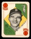 1951 Topps Blue Back #9  Johnny Sain  Front Thumbnail