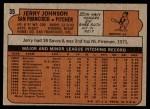 1972 Topps #35  Jerry Johnson  Back Thumbnail
