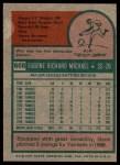 1975 Topps #608  Gene Michael  Back Thumbnail