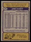 1979 Topps #64  Jim Hart  Back Thumbnail