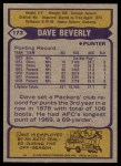 1979 Topps #173  Dave Beverly  Back Thumbnail