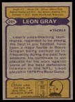 1979 Topps #201   -  Leon Gray All-Pro Back Thumbnail