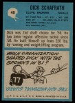 1964 Philadelphia #40  Dick Schafrath  Back Thumbnail